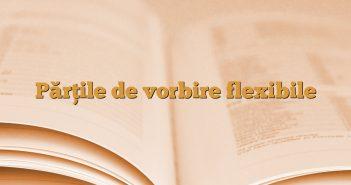 Părțile de vorbire flexibile