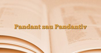 Pandant sau Pandantiv