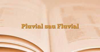 Pluvial sau Fluvial