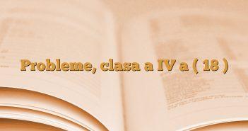 Probleme, clasa a IV a ( 18 )