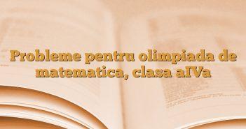 Probleme  pentru olimpiada de matematica, clasa aIVa