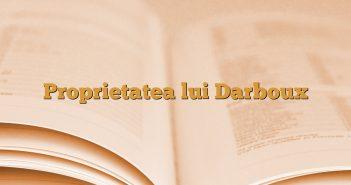 Proprietatea lui Darboux