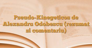 Pseudo-Kinegeticos de Alexandru Odobescu (rezumat si comentariu)