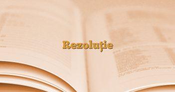 Rezoluție