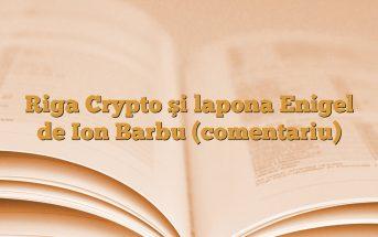 Riga Crypto şi lapona Enigel de Ion Barbu (comentariu)