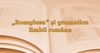 """Romgleza"" și gramatica limbii române"