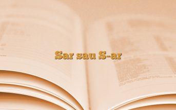 Sar sau S-ar