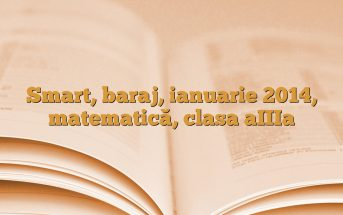 Smart, baraj, ianuarie 2014, matematică, clasa aIIIa