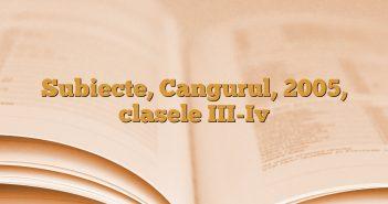 Subiecte, Cangurul, 2005, clasele III-Iv