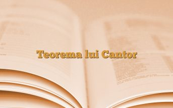 Teorema lui Cantor