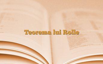 Teorema lui Rolle