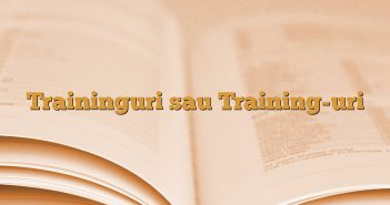 Traininguri sau Training-uri