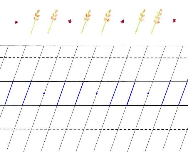 Scris de mana - Grup de doua linioare si punct