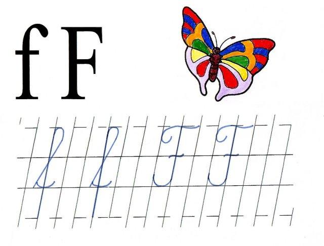 Literele F Mic Si F Mare De Mana Anideșcoalăro