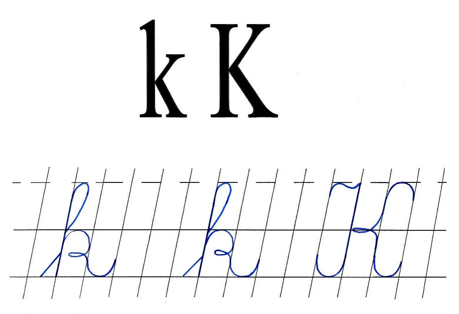 Literele K Mic Si K Mare De Mana Anideșcoalăro