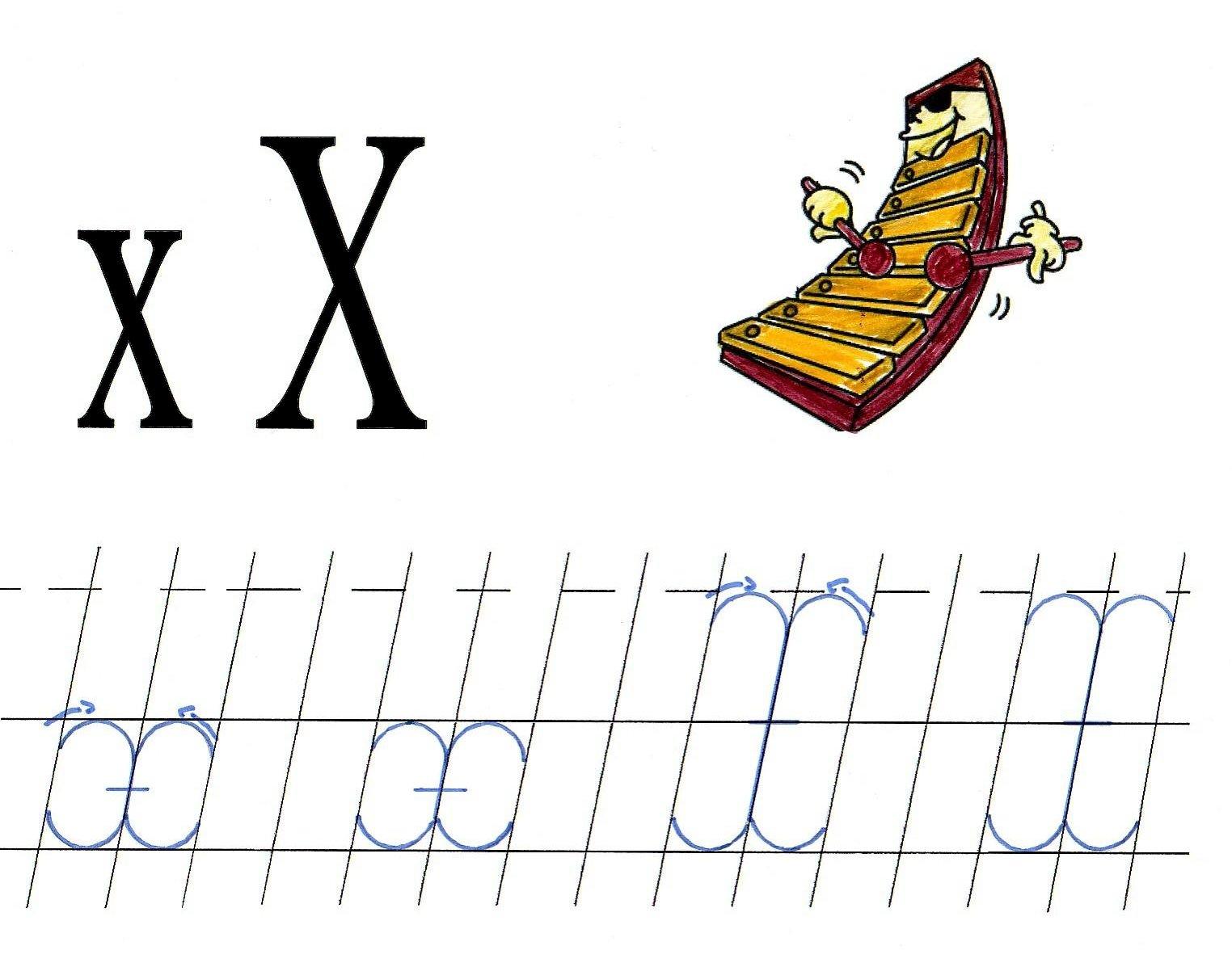 Literele X Mic Si X Mare De Mana Anideșcoalăro